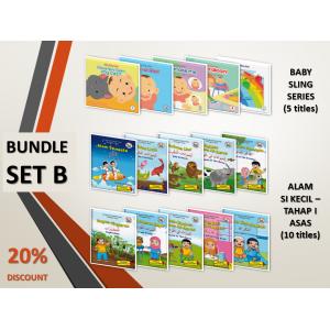 BUNDLE SET B: Baby Sling Series + Siri Alam Si Kecil (Level 1 - Asas)