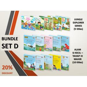 BUNDLE SET D: Jungle Explorer Series + Siri Alam Si Kecil (Level 3 - Mahir)