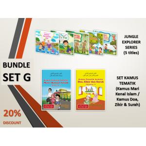 BUNDLE SET G: Jungle Explorer Series + Kamus Mari Kenal Islam + Kamus Doa, Zikir dan Surah
